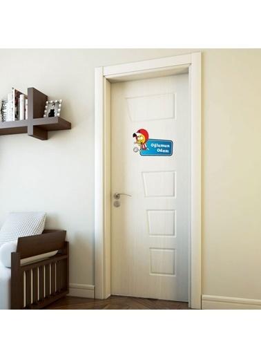 Kral Şakir Kral Şakir 35 x 50 Oğlumun Odası Oda Kapısı Sticker Renkli
